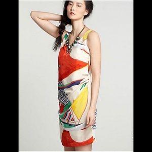 Anthropologie Laguna de Paca printed silk dress